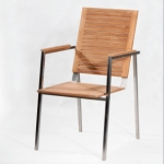 Loro Teak Stacking Chair