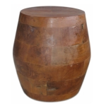 Barrel Shaped Side Table