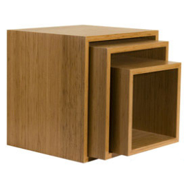 Cube Nesting Tables (Set of 3)