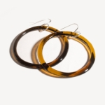 Large Glass Hoop Earrings