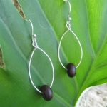Palma Seed Hoop Earrings