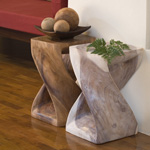 "Twist Stool - 10"" Sq. x 16""H"